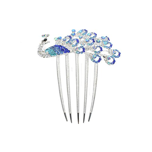 CAETLE® Beautiful Jewelry Peacock Flowers Crystal Hair Clip with CAETLE Box