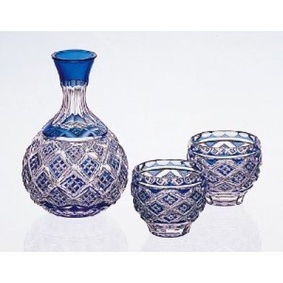 Edo-kiriko (Sake Glass Assort Set )#2302 Made By Shinozaki-seiichi