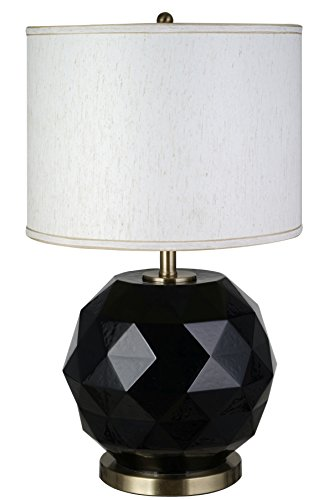 Catalina-Lighting-20714-000-Modern-Faceted-Glass-And-Metal-Orb-Table-Lamp-275-Black