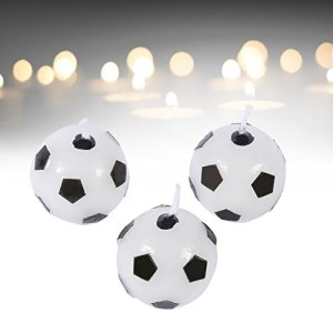 Soccer Cake Candle,3Pcs Cute Soccer Ball Football Candles for Birthday Party Sports Cupcake Candles Decorations Supplies Kids Supplies Decoration 412d4Ag2gzL