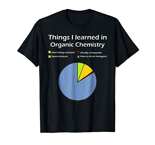 Mens Funny Organic Chemistry Pun T Shirt for Women Men Chemist Large Black