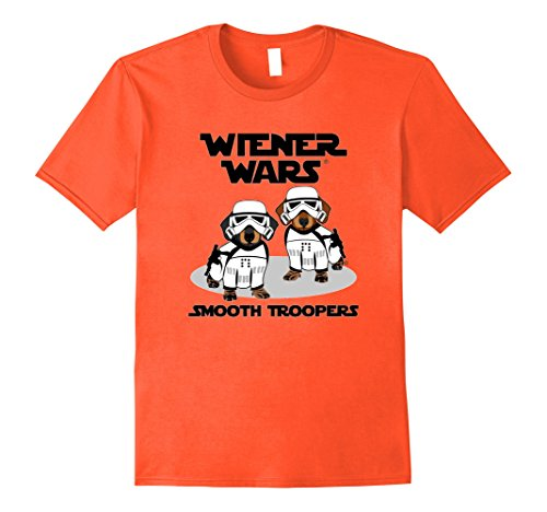 Mens Wiener Wars - Smooth Troopers Funny Dachshund T-Shirt