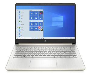 HP 14 Thin & Light 14-inch FHD Laptop (11th Gen Intel i5-1135G7/8GB/512GB SSD/Windows 10/MS Office 2019/Alexa Built-in/Pale Gold/1.47 kg), 14s-dr2006TU