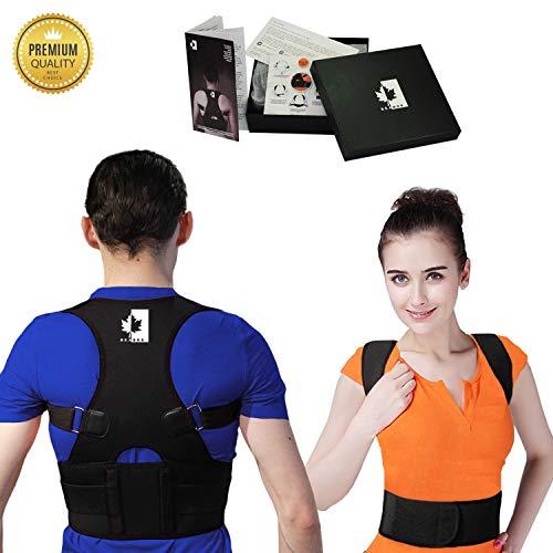 BeaBos Back & Shoulder Posture Corrector for Women & Men - Adjustable, Comfortable Clavicle Brace - Posture Support Belt - Size S