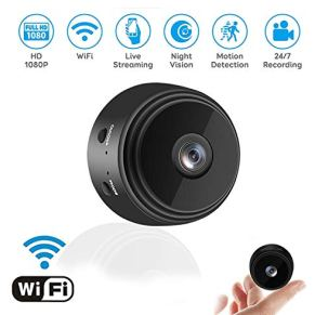 Mini Camera WiFi Wireless Video Camera,1080P HD Small Home Security Cameras with 32G SD Card, for Car Home Outdoor…