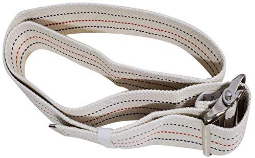Transfer Gait Belt with Metal Buckle 1 Loop Handle Beige 60 inches. Available 1 Loop Handle: Beige 72', Black 60', 72', Pink 60'