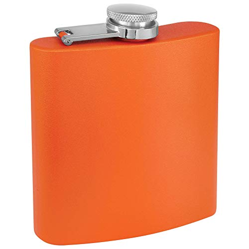 Clear-Water-Home-Goods-6-oz-Powder-Coated-Stainless-Steel-Hip-Flask-Wedding-Party-Groomsman-Bridesmaid-Matte-Orange-1