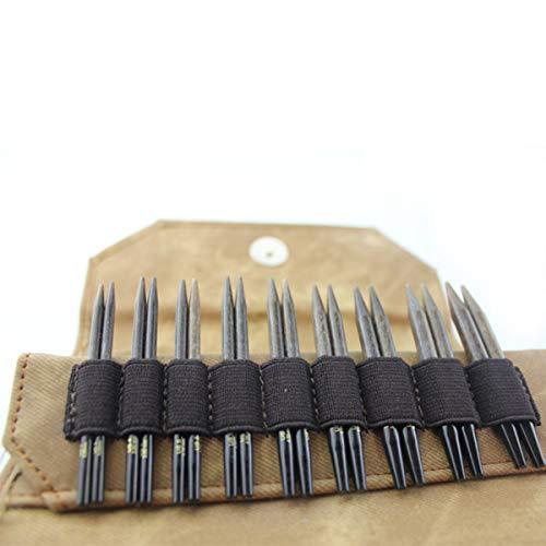 "Lykke 3.5"" (7cm) Umber Wooden Interchangeable Circular Knitting Needle Set"