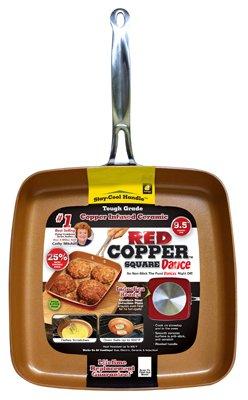 Red Copper Square Non-Stick Ceramic Cookware