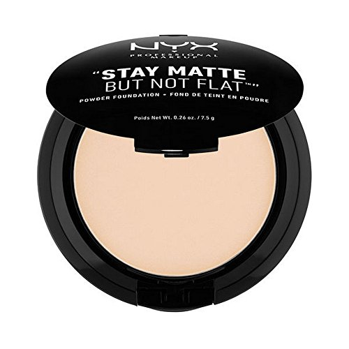 NYX PROFESSIONAL MAKEUP Stay Matte but not Flat Powder Foundation, Ivory, 0.26 Ounce