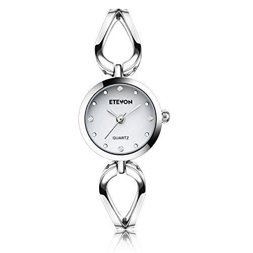 412w9wjrnaL ✿CASUAL SIMPLE DESIGN : The watch features with small silver-toned case with simple crystal markers and droplets hollow bracelet. Perfect for all kind of business, casual, indoor activities and daily use ✿GIFT PACKAGE READY : Comes in an elegant gift box. No wrapping needed. Perfect gift for Mother's Day, Anniversary Day, Valentines Day and Birthday to your girlfriend, wife and mom ✿WATER RESISTANT FOR DAILY USE : In general, withstands splashes or brief immersion in water, but not suitable for swimming