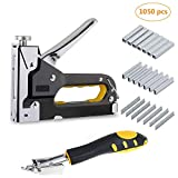 3 in 1 Heavy Duty Staple Gun with Staple Remover, Hand Operated Stainless Steel Stapler Brad Nail Gun, Furniture Stapler, Upholstery Staples, Upholstery Gun, 900 Staples Attached