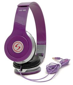signature VM-46 Stereo Bass 3D Sound Headphones for XIAOMI MI 3S (Purple)