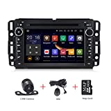Android 9.0 Car Stereo 7 inch DVD Player for GMC Chevy Silverado 1500 2012 Quad Core Double Din in Dash Touchscreen FM/AM Radio Receiver Navigation with Rear View Camera