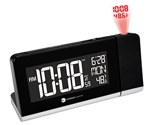 Ambient Weather Radio Controlled Projection Alarm Clock