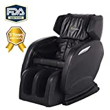 2018 Newest Real Relax Zero Gravity Full Body Shiatsu Massage Chair with 3 Years Warranty, Foot Roller,Heat and Audio Music Player, Black