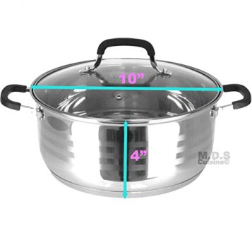 Dutch-Oven-Pot-Stainless-Steel-5-Layer-Extra-Impact-Capsulated-Bottom-wLid-Glass-Olla-Traditional-Heavy-Duty