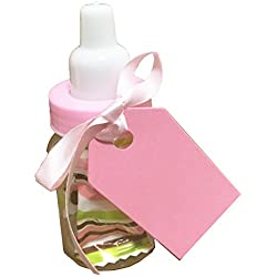 Charmed Baby Bottle Shower Favor,3-Inches, Pink (2 Dozen)