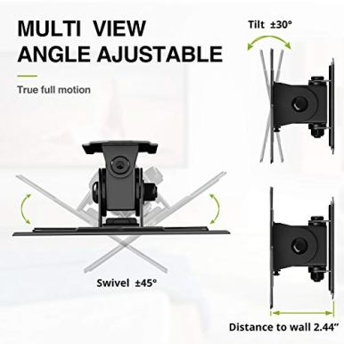 USX-MOUNT-TV-Wall-Mount-Monitor-Mount-Bracket-with-Adjustable-Tilt-Swivel-for-10inch-to-26inch-LED-LCD-OLED-TVs-and-Monitors-VESA-Size-Up-to-100x100mm-and-Weight-Capacity-Up-to-22lbs-XMS002