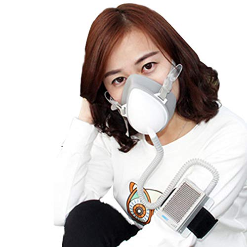 Rechargeable Personal Wearable Electrical Air Purifying Respirator, Reusable 3 Speeds Fan Modes Air Purifier with HEPA…