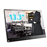 UPERFECT Portable Monitor 13.3 Inch Computer Display 1920×1080 IPS Screen Fit with HDMI Type-C OTG Mini DP Built-in Speaker Gaming Monitor for Raspberry Pi PS3 PS4 Xbox 360 Laptop Cellphone PC MAC WIN