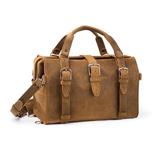 2e861f06ca Saddleback Leather Doctor s Overnight Bag – Full Grain Leather with 100  Year Warranty