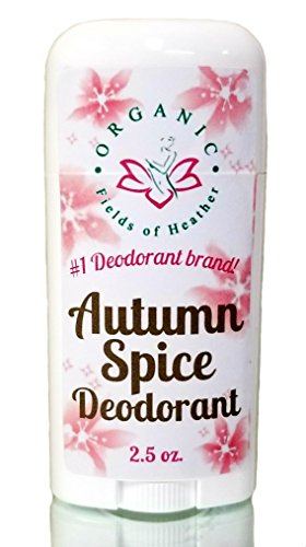 Organic Fields of Heather Autumn Spice Organic & Natural Deodorant With Botanically Infused Ingredients, 2.5 fl. Oz