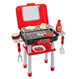 Think Gizmos Portable Pretend Play Cooking Sets for Kids with Colour Changing Cooking Effect Food - Fun Play Sets for Boys & Girls (BBQ Set)