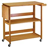 Product review for Winsome Wood Foldable Kitchen Cart with Knife Block, Light Oak