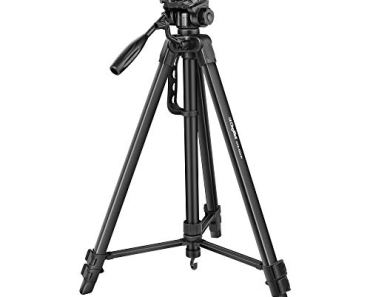 DIGITEK® DTR 550 LW (67 Inch) Tripod For DSLR, Camera  Operating Height: 5.57 Feet   Maximum Load Capacity up to 4.5kg   Portable Lightweight Aluminum Tripod with 360 Degree Ball Head   Carry Bag Included (Black) (DTR 550LW)