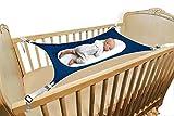 LONYKIBEE Baby Hammock for Nursery Beds Cribs Bedding Crescent Hammocks Blue Absolutely Safety Sleeping Baby Womb Hammocks