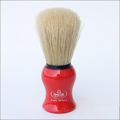 Omega 10065 Boar Bristle Shaving Brush, Assorted Colors 7