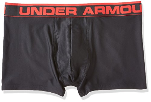 "Under Armour Men's Original Series 3"" Boxerjock, Black/Red, Large"