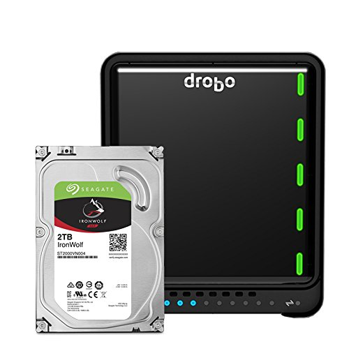 Drobo 5N2: Network Attached Storage (NAS) 5-Bay Array, 2X Gigabit Ethernet Ports (DRDS5A21)