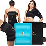 Large Flexible Gel Ice Pack & Neoprene Wrap - Instant Pain Relief for Injuries, Muscle Pain, Aches, Inflammation, Sprains, Recovery - Hot & Cold Therapy Compression for Your Back, Shoulder, Hip, Knee