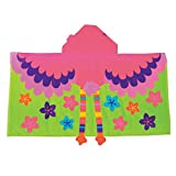 Stephen Joseph Hooded Towel, Flamingo