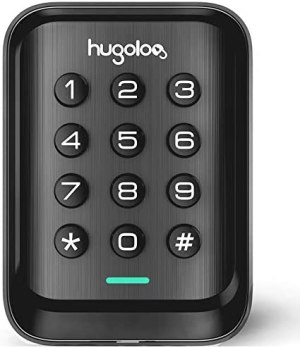 Entry Door Locks with Keypads, Keyless Deadbolt Door Locks, Slim Electronic Deadbolt Lock, Auto Lock, Easy to Install, Battery Backup, Lighted keypad, for Garage or Side Door, Matte Black
