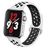 OriBear Compatible for Apple Watch Band 44mm 42mm, Breathable Sporty for iWatch Bands Series 4/3/2/1, Watch Nike+, Various Styles and Colors for Woman and Man(M/L,Platinum Black)