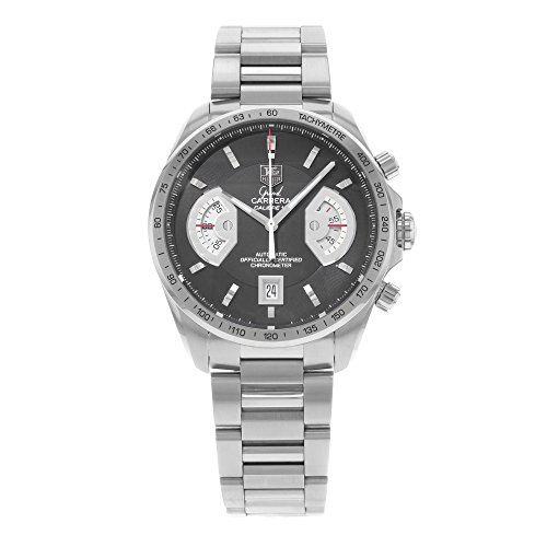 413UeLXCCoL Automatic movement Hours, minutes, small rotating seconds at 3, chronograph center sweep seconds, small rotating chronograph minutes at 9, and date at the 6 o'clock position Screw-in chronograph push-buttons
