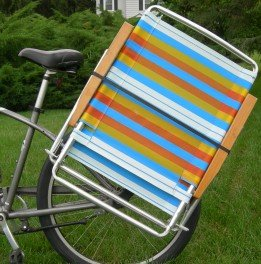 Beach Cruiser Bike Caddy Sports Equipment Chair Holder Accessory