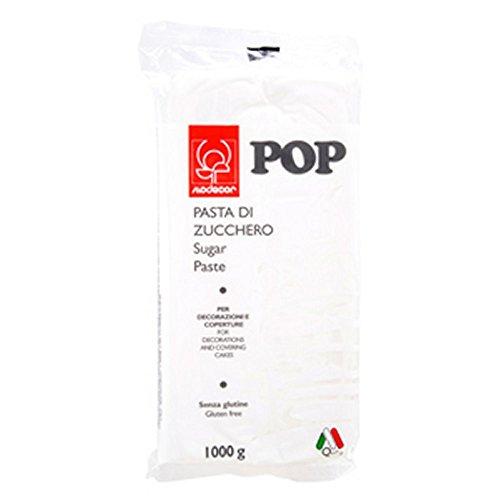 Pasta di zucchero colorata Pop 1 kg Modecor - nero