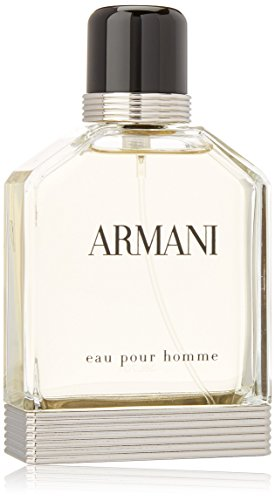 Eau Pour Homme by Giorgio Armani | Eau de Toilette Spray | Fragrance for Men | An Elegant, Timeless Scent with Notes of Bergamot, Coriander, and Vetiver | 100 mL / 3.4 fl oz
