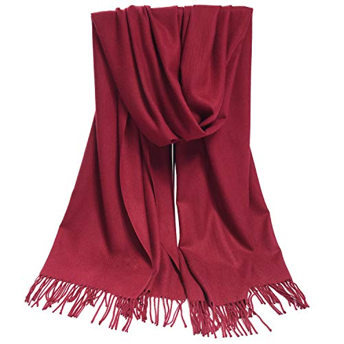 3ec8c9514ecd3 LERDU Ladies Gift Idea Cashmere Pashmina Scarf Fashion Warm Wool ...