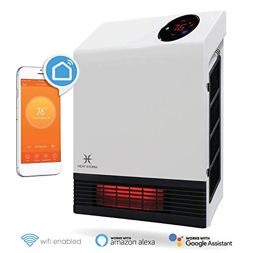 Heat Storm HS-1000-WX-WIFI WiFi Infrared Wall Heater,