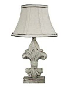 AHS Lighting L2073A-UP1 Fleur De Lis Acccent Lamp, Off-white