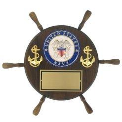 United States Navy Shipwheel Plaque