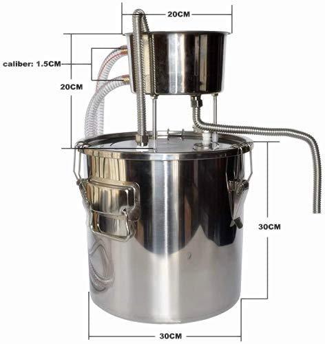 3Gal-12L-Alcohol-Distiller-Moonshine-Still-Build-in-Thermometer-Still-Kits-Water-Distiller-Wine-Boiler-Home-Brewing-Kit-Stainless-Steel-3-Gal-12L
