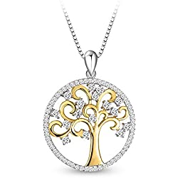 Sterling Silver Necklace Tree of Life Pendant Necklace For Women