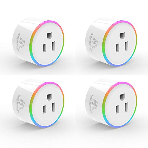 Home-Awesome-Breathing-Light-Smart-Plug-Mini-No-Hub-Required-Wi-Fi-Compatible-with-Amazon-Alexa-Control-your-Devices-4-Pack