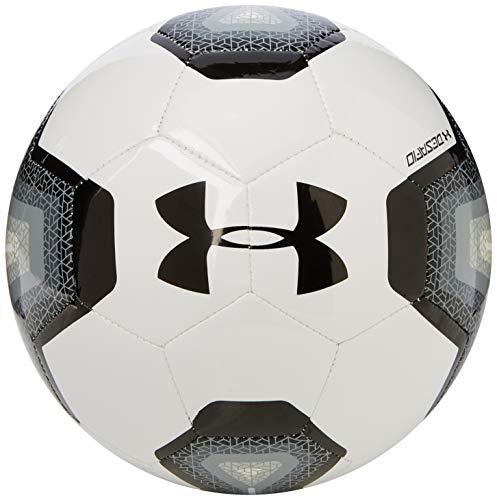 Under Armour DESAFIO 395 Soccer Ball, Size 5, White/Black